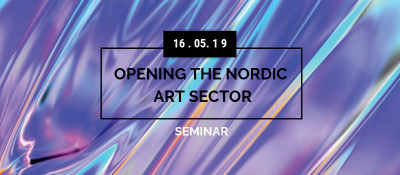 Here you see the event image for the opening the Nordic Art Sector seminar