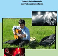The cover picture of the accessibility plan of Tampere Guitar Festival