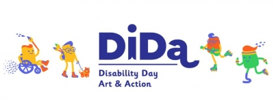 DiDa - Disability Day Art & Action logo banner
