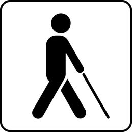 the symbol of Services for the visually impaired