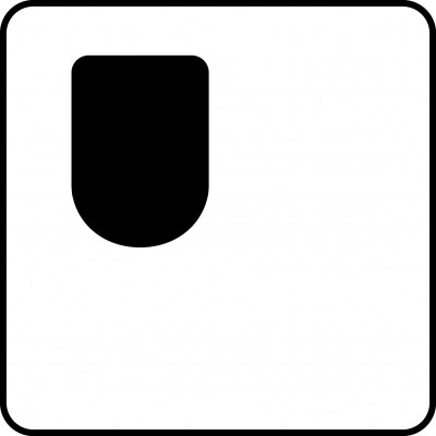 Symbol of one-sided access wc (right-hand side), mirror-image WC
