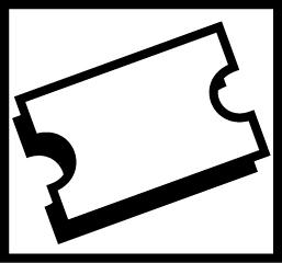 Valkoisella pohjalla mustareunainen suorakulmion muotoinen lippu