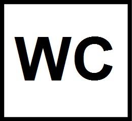 valkoinen neliö, jossa musta teksti